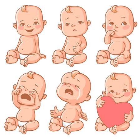 Illustration for baby emotions set - Royalty Free Image