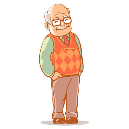 Illustration for Portrait of grandfather - Royalty Free Image