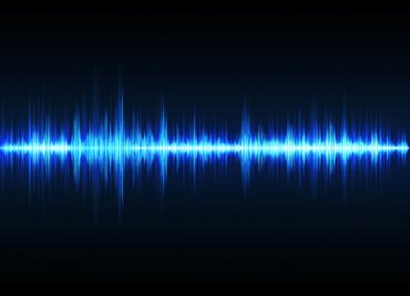 Illustration pour Sound wave vector background. Blue digital equalizer - image libre de droit