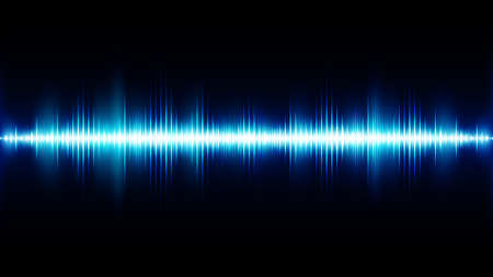 Illustration pour Sound wave background. Wave of musical soundtrack - image libre de droit