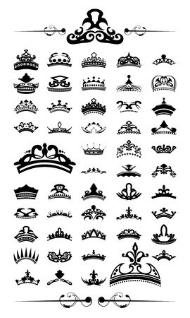 silhouettes set of 50 crown