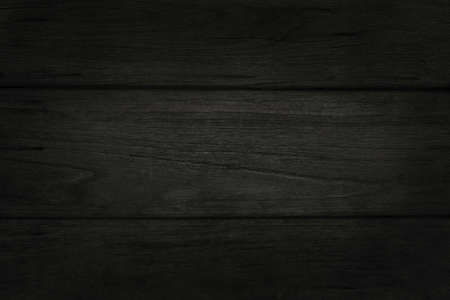 Photo pour Black wooden wall background, texture of dark bark wood with old natural pattern for design art work, top view of grain timber. - image libre de droit