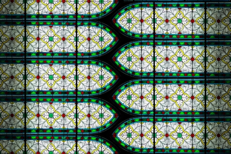 Abstract stained glass of window