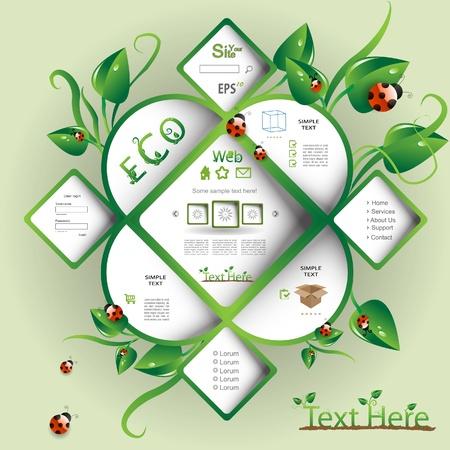 Natural eco vector webdesign