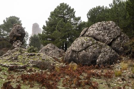 Los Picarazos (1,450 m.), rock formations,  Villaverde de Guadalimar, Sierra de Alcaraz y del Segura, Albacete province, Autonomous community of Castilla-La Mancha, Spain