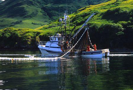 Photo pour Commercial Fishing off Kodiak island Alaska - image libre de droit