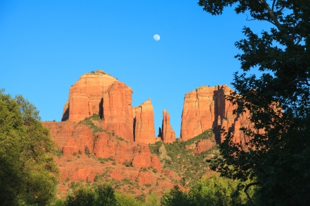 Moonrise At Cathedral Rock