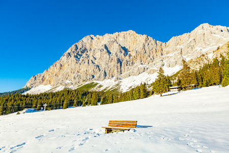 view of zugspitze from ehrwald