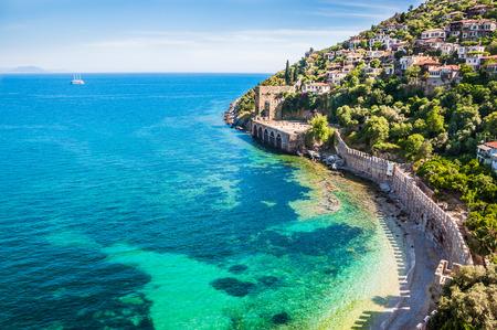 Sea beach in Alanya, Turkey. Beautiful summer landscape