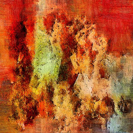 Photo pour Abstract background. Psychedelic fractal, texture of brush strokes of colored paint of blurred lines and spots of different shapes and sizes. - image libre de droit