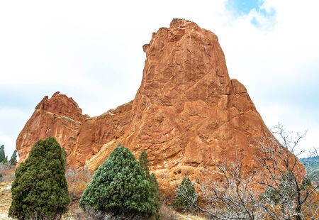 Rock formations in the iconic Garden of the Gods