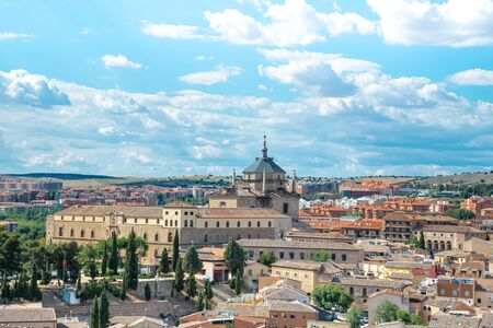 Toledo panorama skyline. Toledo is capital of province of Toledo (70 km south of Madrid), Spain