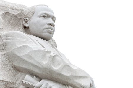 Martin Luther King Statue isolate on white background