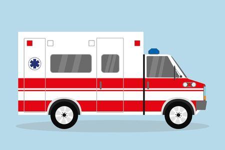 Illustration pour Ambulance car, flat emergency auto,vector illustration - image libre de droit