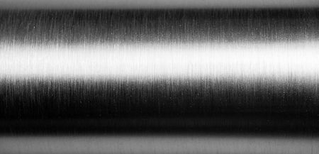 Shiny brushed metal pipe surface