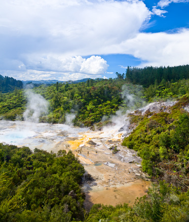 Orakei Korako Cave and Thermal Park geothermal area in  New Zealand