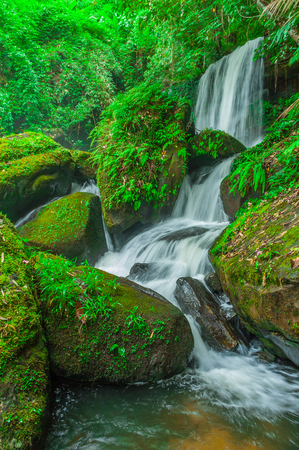 Beautiful waterfall in tropical forest,Phu Hin Rong Kla National Park,Phetchabun Province,Thailand.