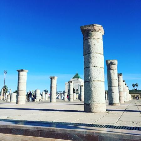 Mausoleum pillars