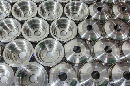 Photo pour Metal parts machined on a lathe - image libre de droit