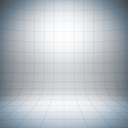 Photo pour Empty white surface. A 3d illustration of blank template layout of simple stage with grid. - image libre de droit