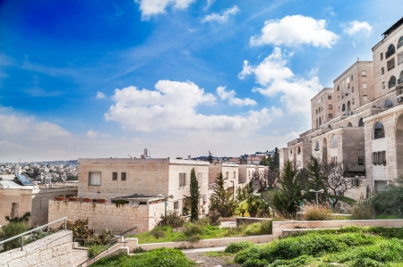 View on residential district in Jerusalem, Israel