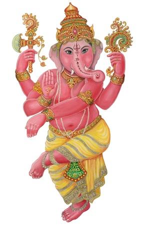 Ganesha Painting on white background
