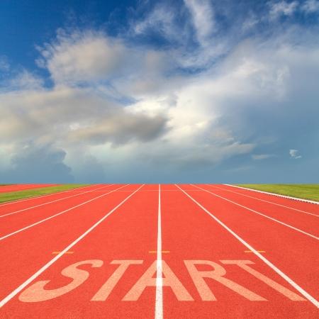 Start on running track