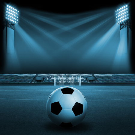 Soccer ball on Soccer field Soccer stadium