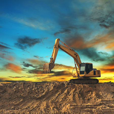 Photo for Excavator - Royalty Free Image