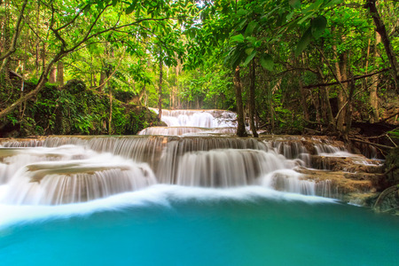 Deep Forest Waterfall in tropical Thailand