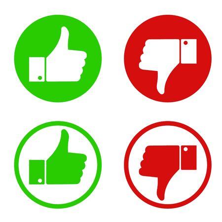 Illustration pour Like and dislike symbol design. Vector illustration. - image libre de droit