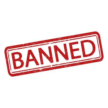 Illustration pour Banned grunge rubber stamp on white, vector illustration. - image libre de droit
