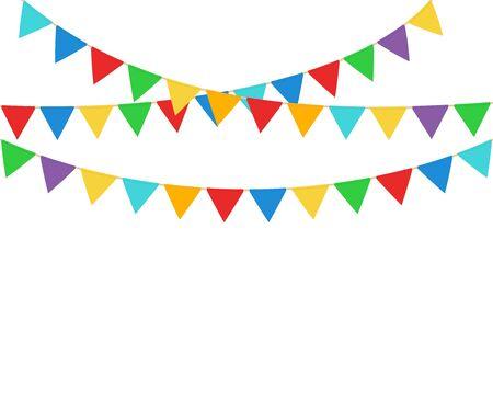 Illustration pour Vector illstration of party flags on white background. - image libre de droit