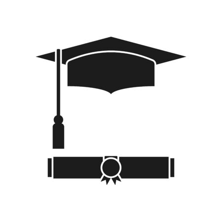 Illustration pour Vector illstration diploma icon. Flat design. Isolated. - image libre de droit