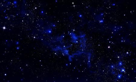 Glowing stars in open space