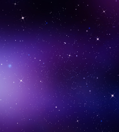 Star illustration with purple light