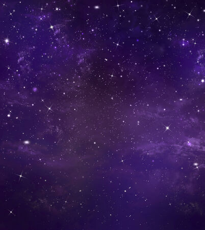 purple stars and clouds in space
