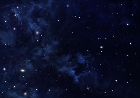 Blue and black starry sky illustration