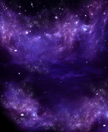 Starry purple clouds in the night sky