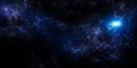 starry sky in the open space panoramic background