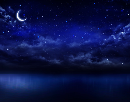 Photo for beautiful night sky in the open sea - Royalty Free Image