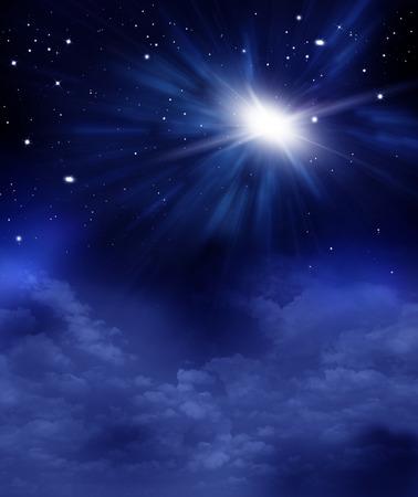 Foto de beautiful background of the night sky with stars - Imagen libre de derechos