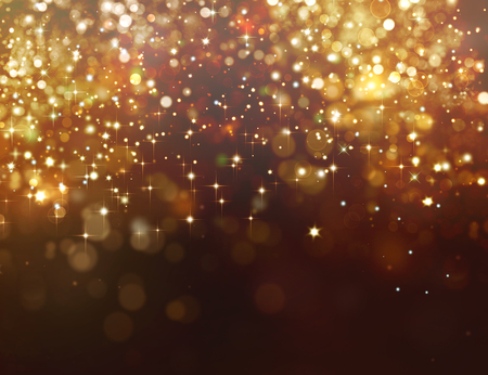 Photo pour Golden glitter background with stars - image libre de droit