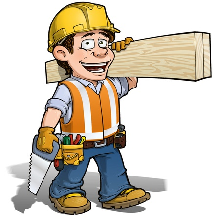 Photo for Constraction Worker -- Carpenter - Royalty Free Image
