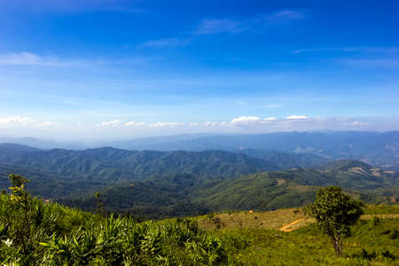 View from on the mountain Chiangrai province, Thailand