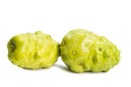 Great Morinda beach mulberry isolated on white background