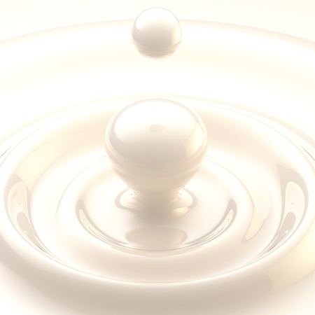 Light background  cream or milk liquid drop