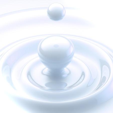 Light background  cream liquid drop