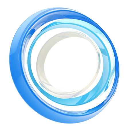 Abstract circle frame made of rings