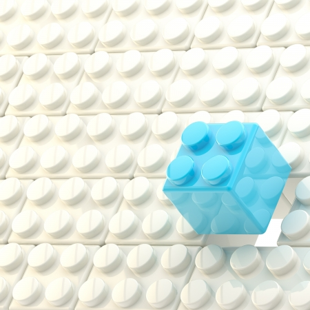 Photo for Background made of toy construction brick blocks - Royalty Free Image